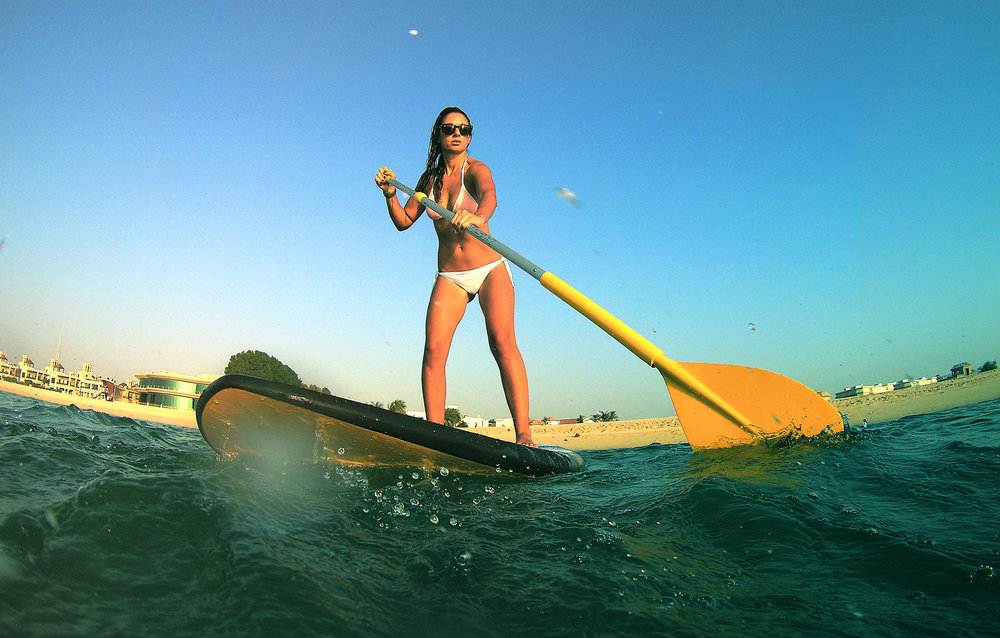 Dani takes to the water on her SUP