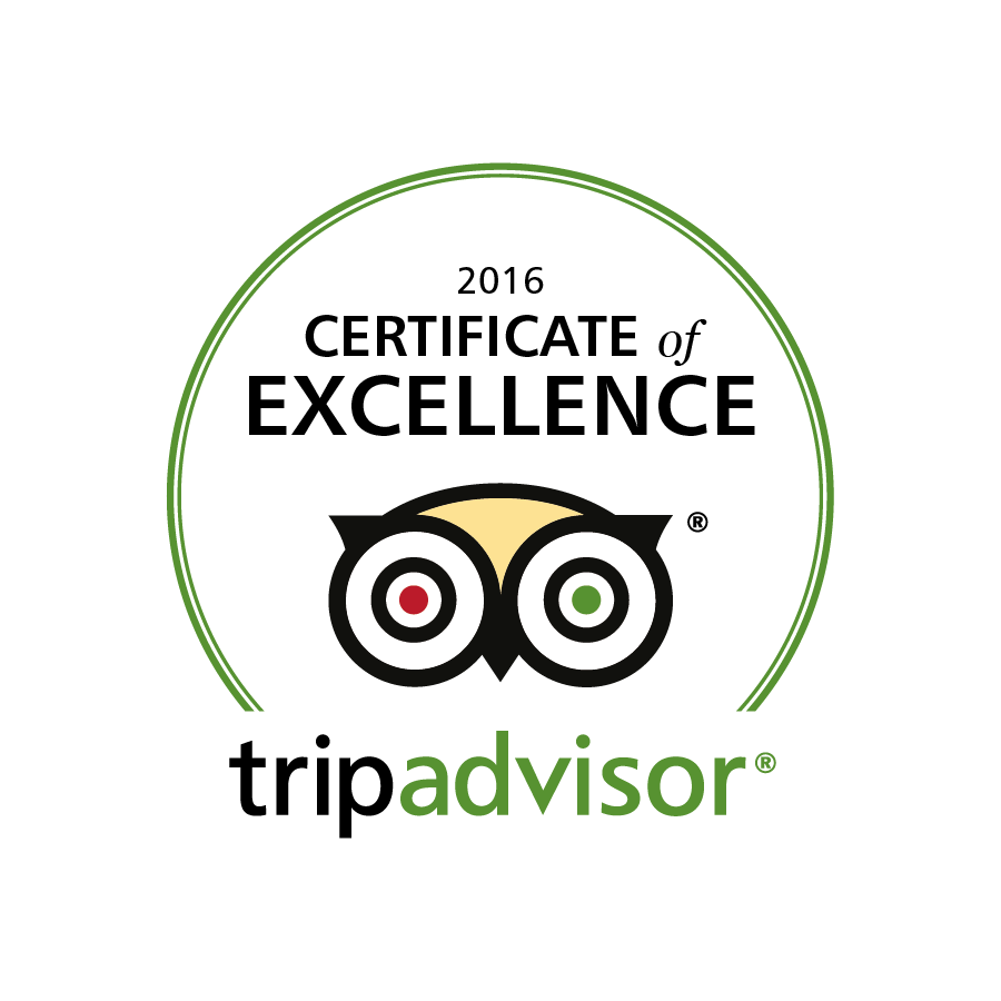 Trip Advisor Badge of Excellence