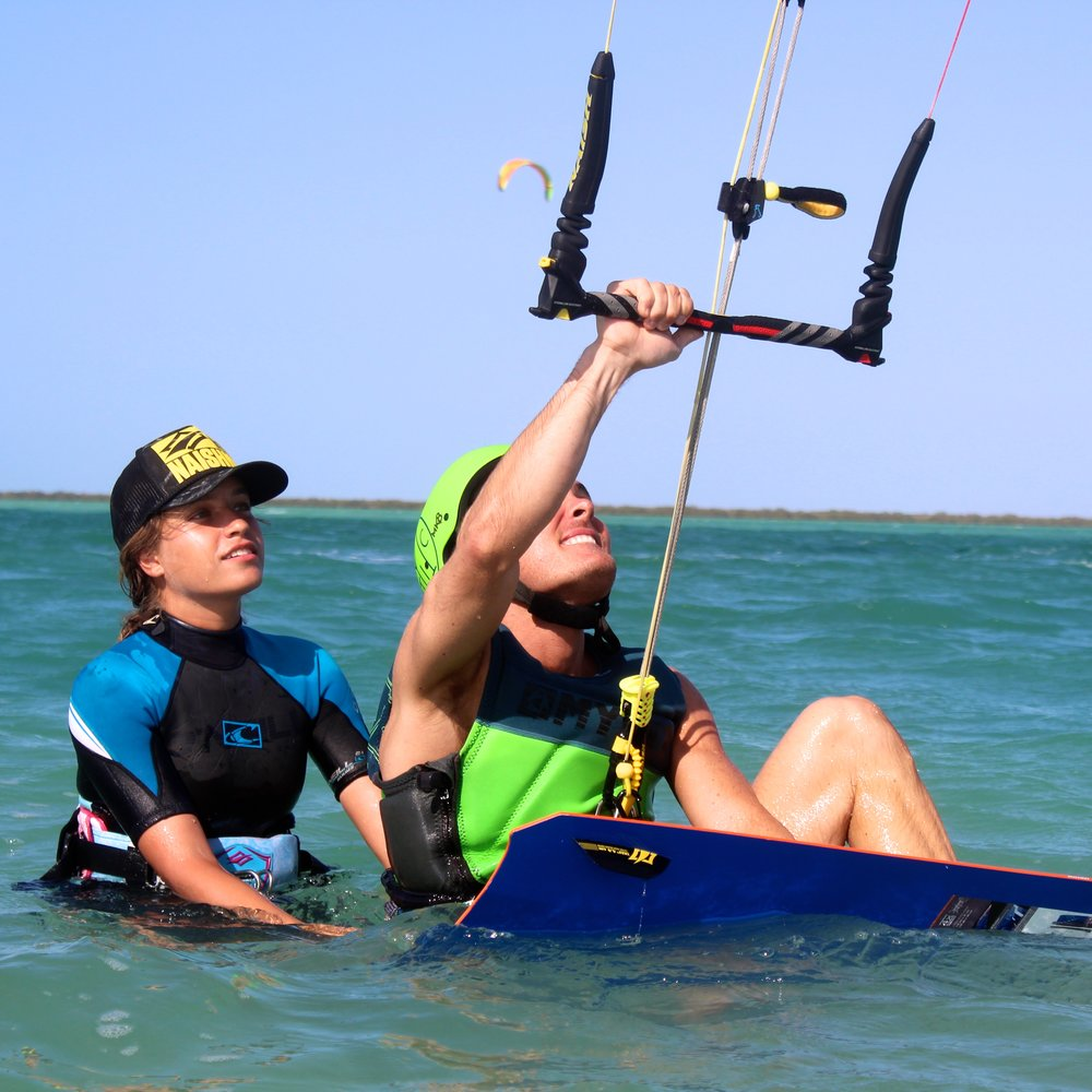 Private kitesurfing lesson in Dubai with Bianca