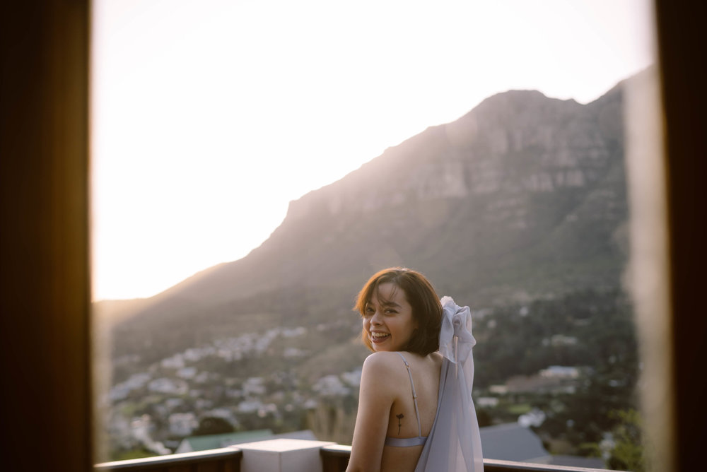 Amy - Amy wearing Ines at home in Cape Town, South Africa