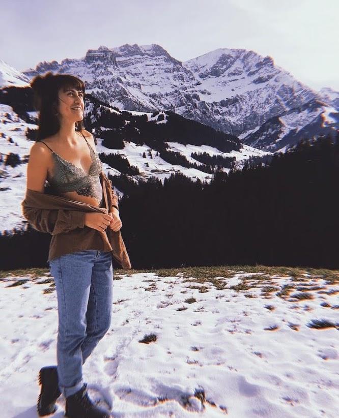 Milena - Milena wearing Safari in Adelboden, Switzerland