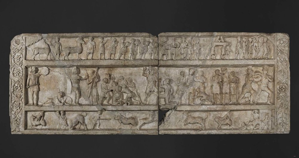 Grafreliëf Pompeii - Een dag in het amfitheater