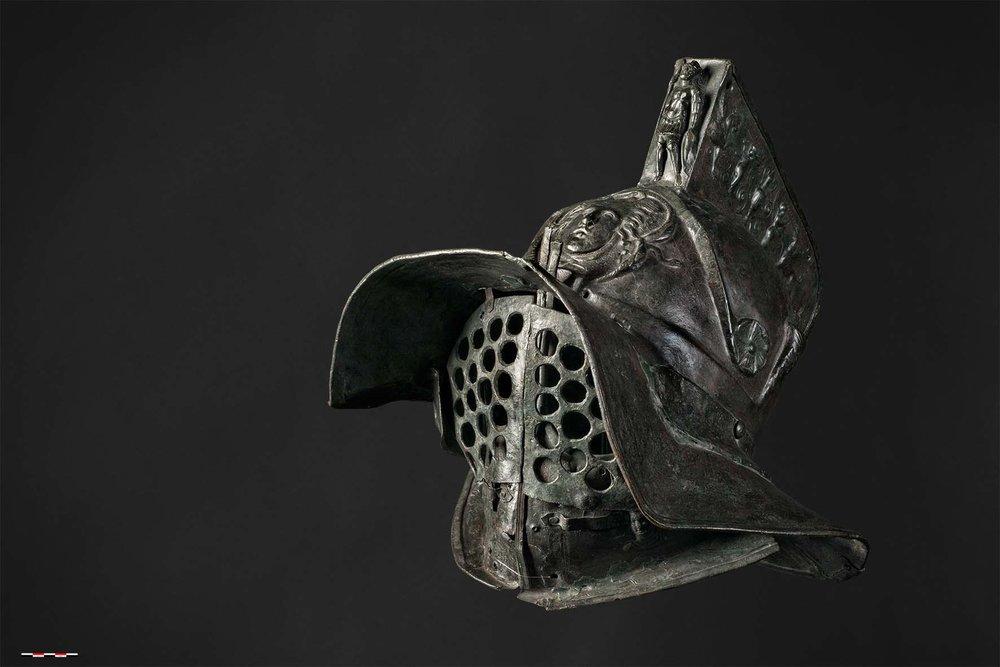 Helm van een murmillo