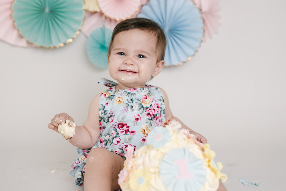 Duck Egg and Pink Floral Romper