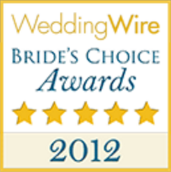 Wedding Wire Bride's Choice Awards Winner 2012