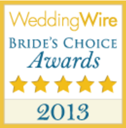 Wedding Wire Bride's Choice Awards Winner 2013