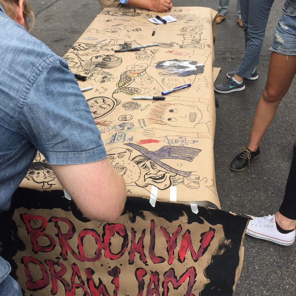 Draw Jam, a community art party -