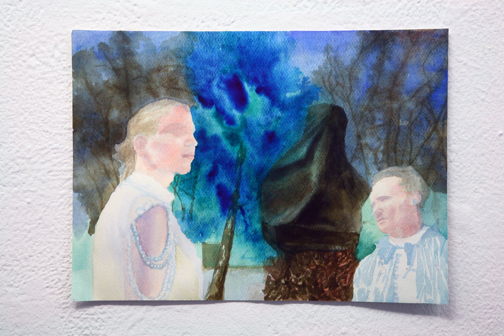 Artist Mark Aerial Waller's watercolor work- The Flipside of Darkness (2008).