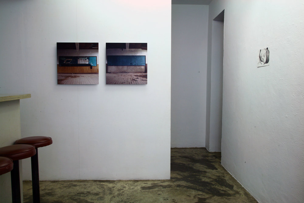 Installation shot by artist Wu Shang Lin (left) and Claire Hooper (right).