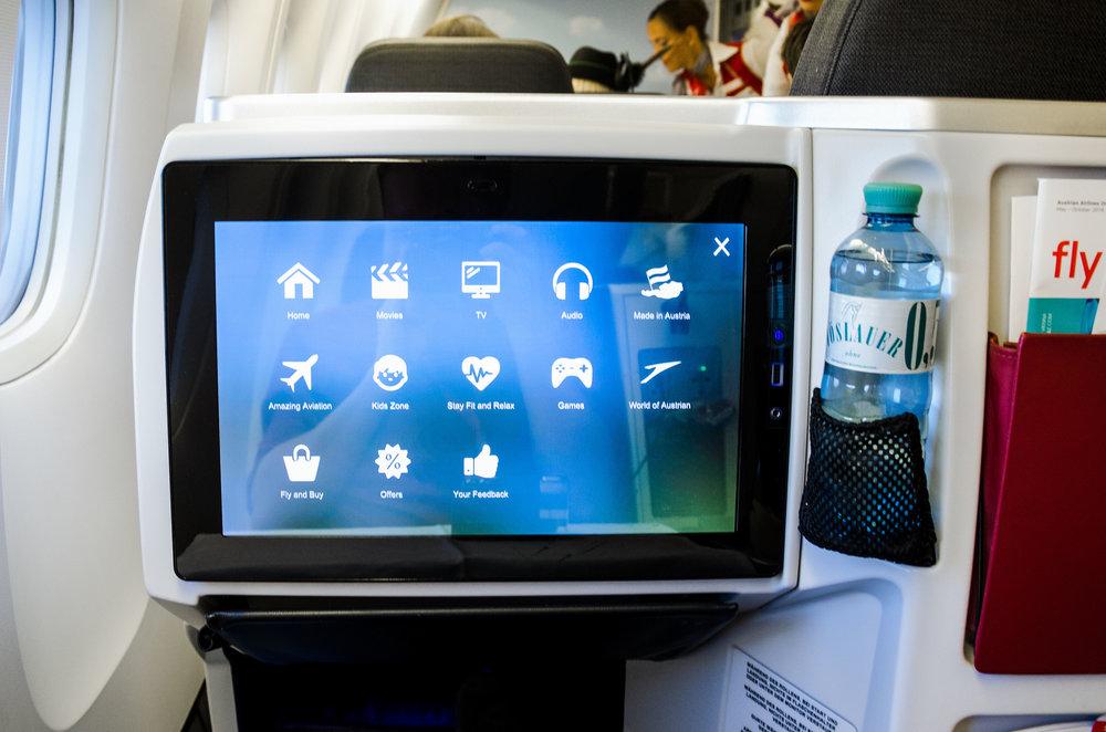 Austrian Airlines offers an extensive inflight entertainment