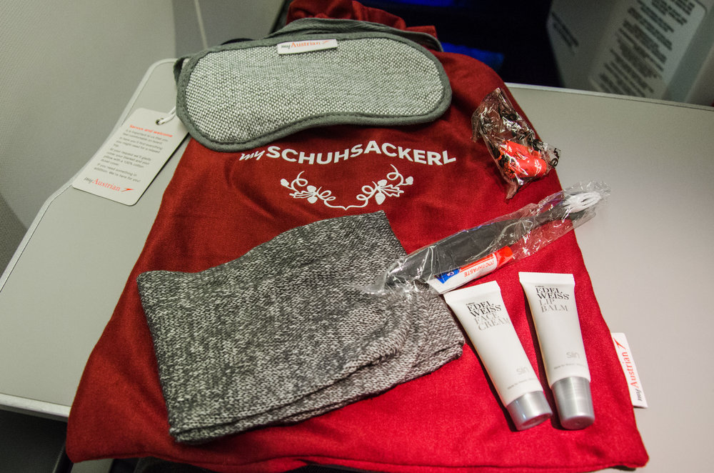 The complimentary amenity kit