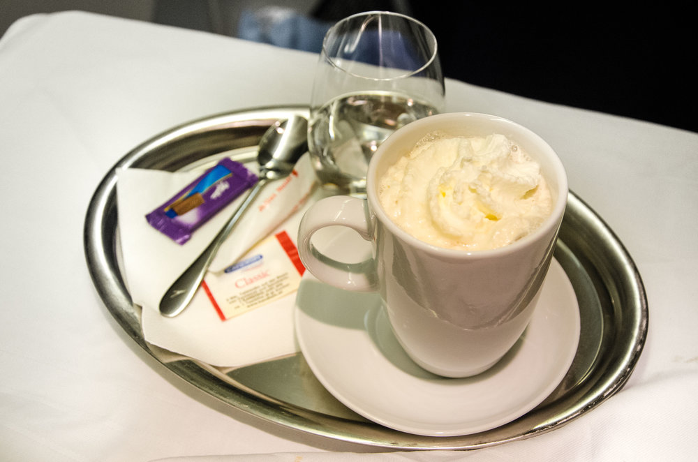 Austrian also offers lots of coffee variations aboard