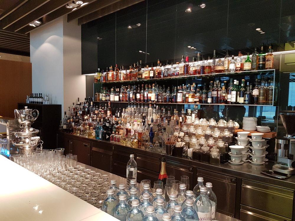 The bar at Lufthansa First Class Terminal in Frankfurt