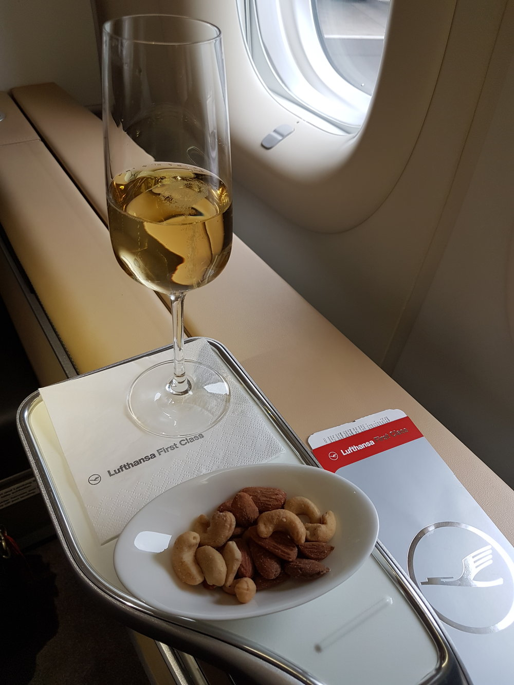 Champagne served on board today was Taittinger Champagne Brut Millésimé 2007.