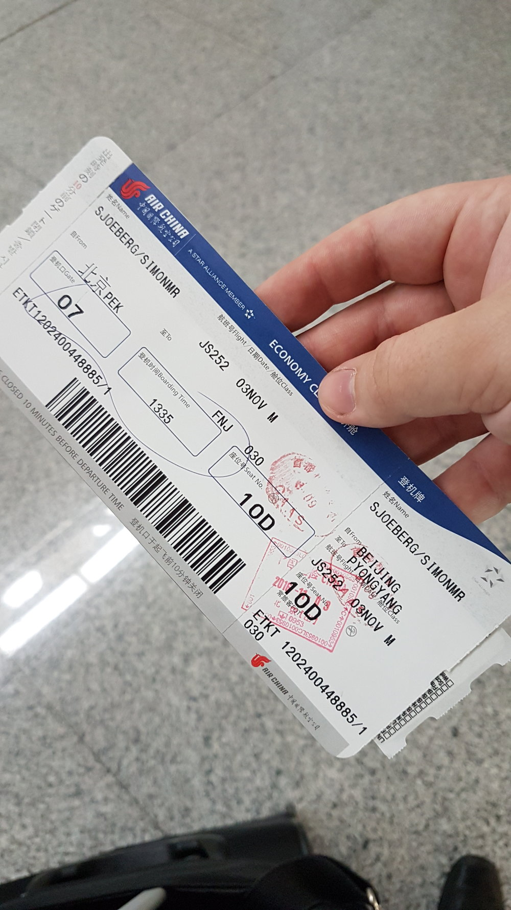 A Boarding pass I probably will save forever!
