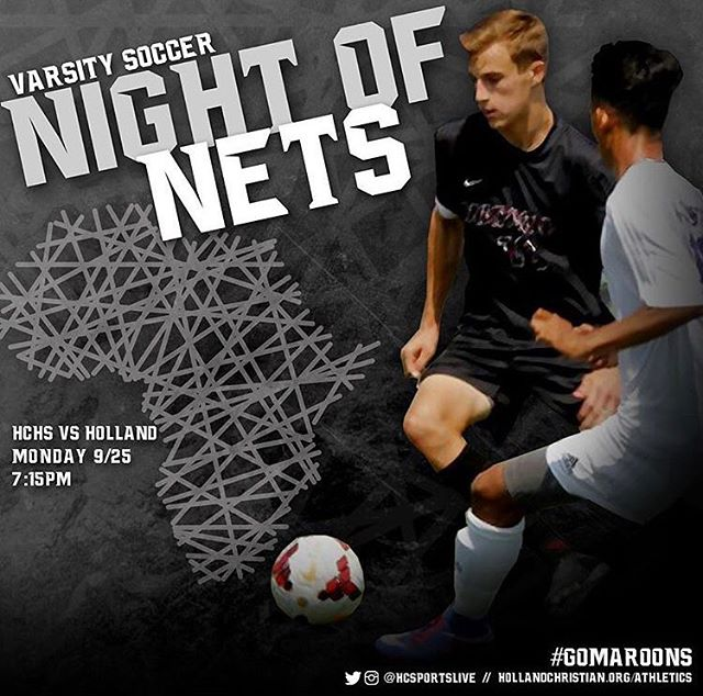 @holland_christian_schools is going to need some support from you guys in their #nightofnets game tomorrow at 7:15! Good luck boys! #gomaroons #endmalaria