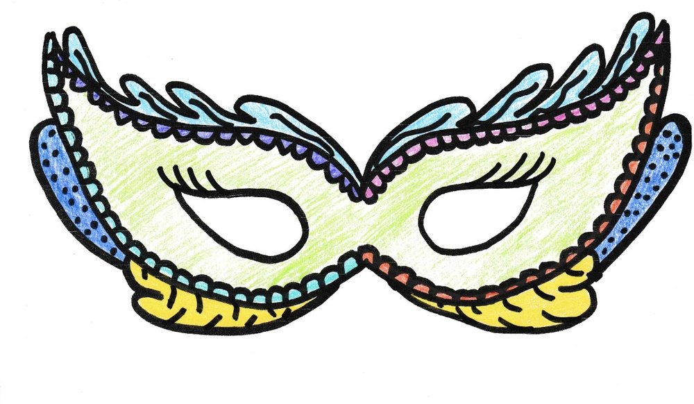 How will you decorate your carnival mask?