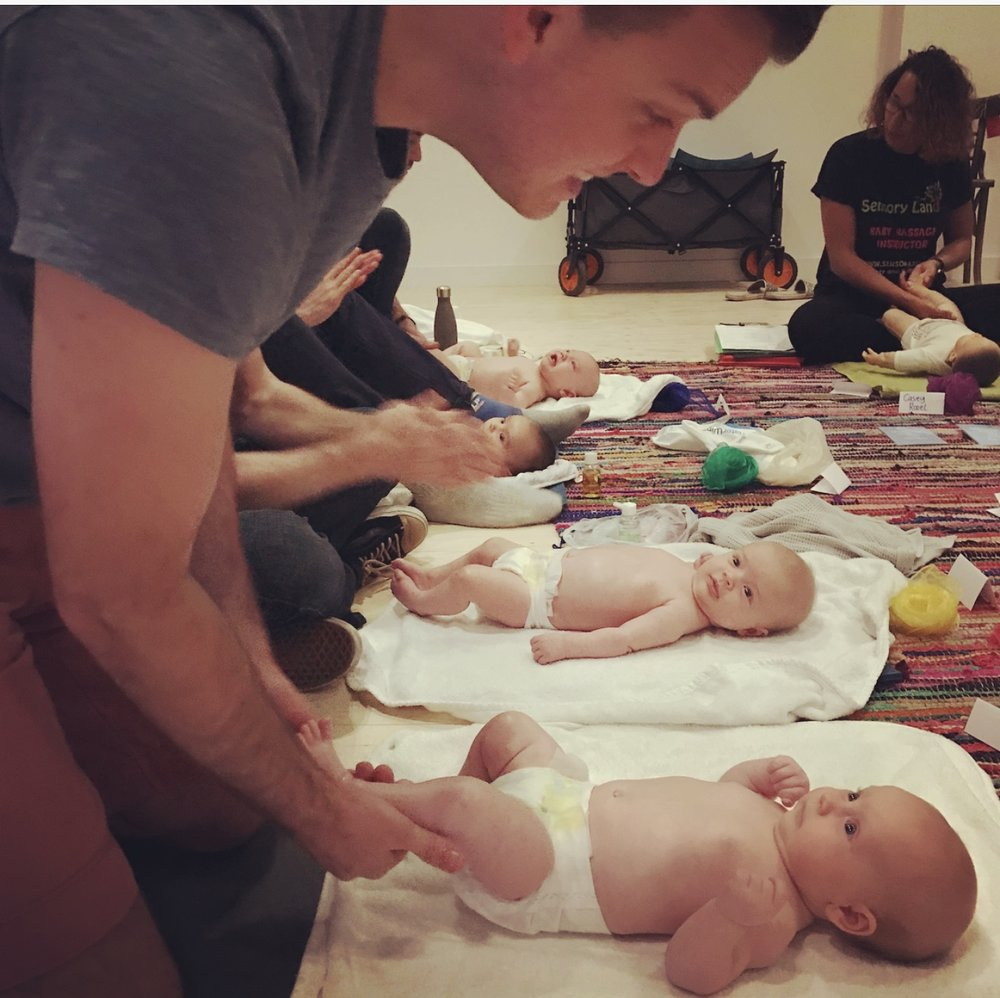 Dad's Baby Massage Workshops   One 45 minute class  £15 for existing customers £20 for new customers