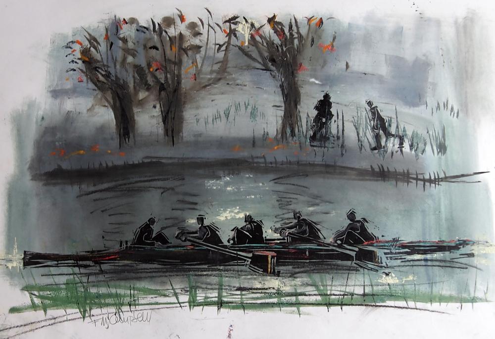 'Autumn Outing I' - 65cm x 42cm