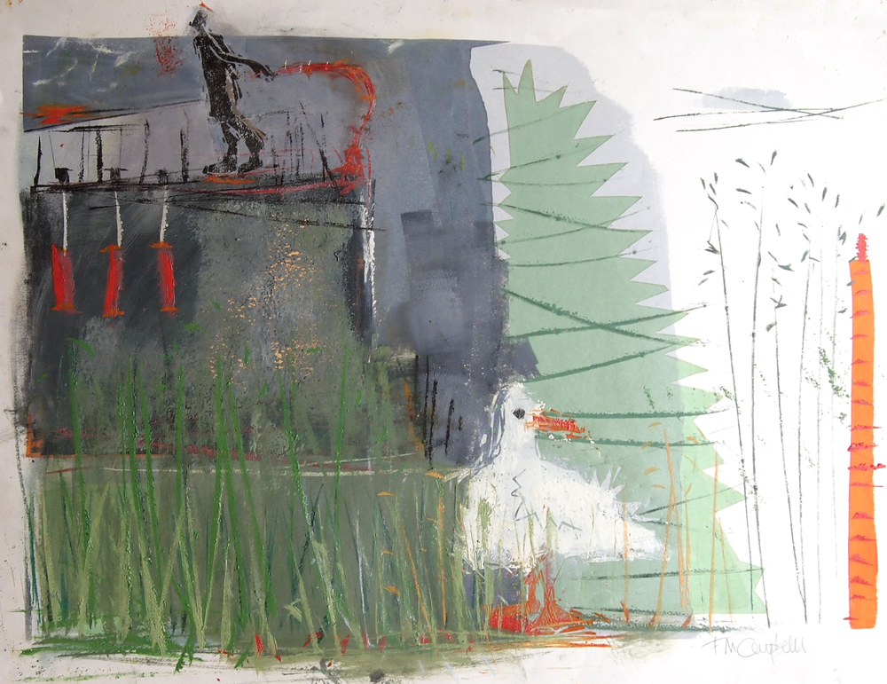 'Riverbank III' - 62cm x 47cm