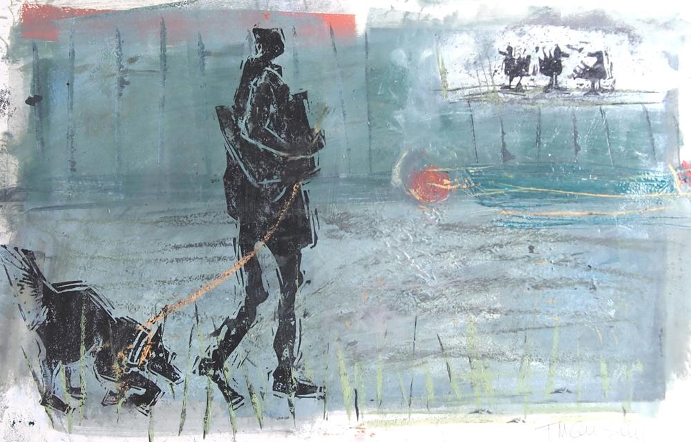 'Riverside morning I' - 48cm x 30cm