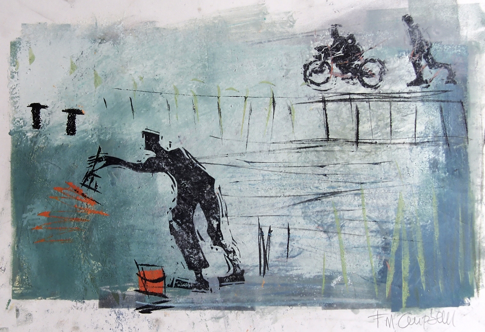 'New Paint' - 46cm x 31cm