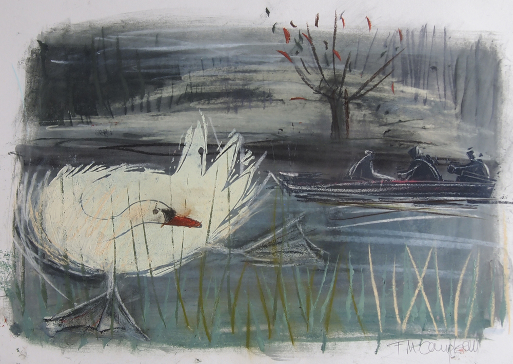 'Swan!' -  45cm x 33cm