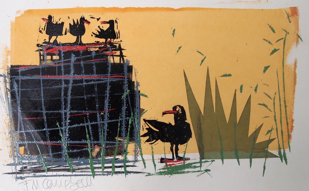 'Bird Talk II' - 31cm x 20cm