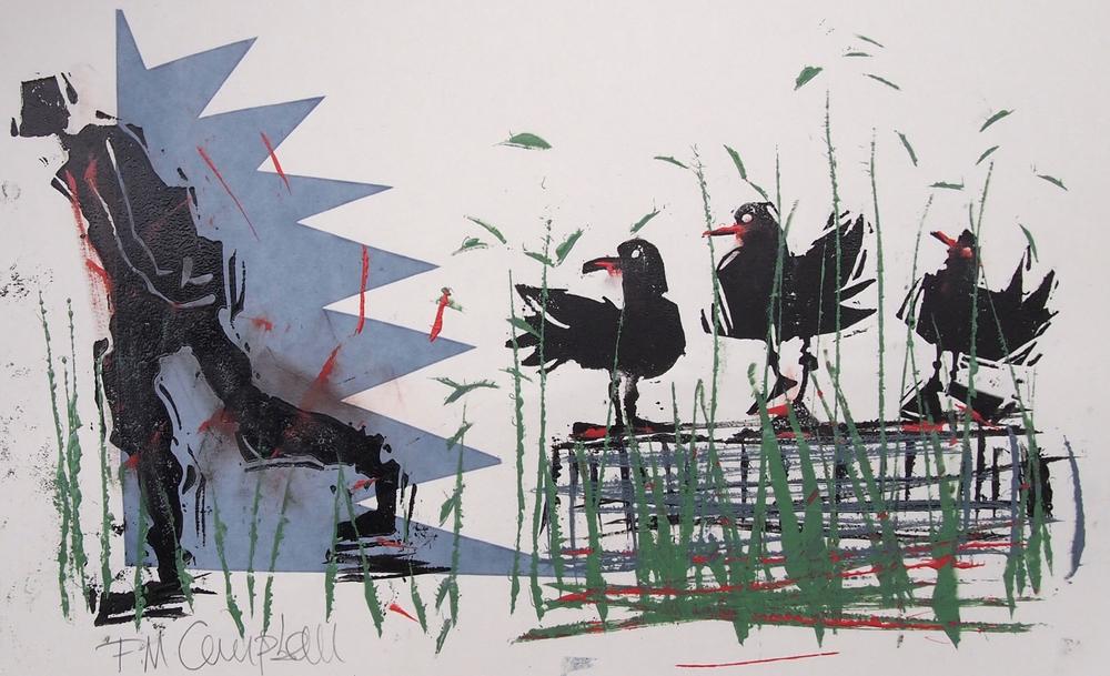 'Bird Talk IV' - 33cm x 21cm