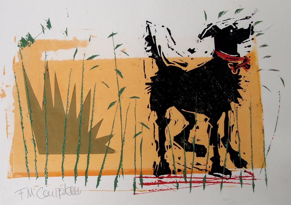 'Happy Dog II' - 31cm x 21cm