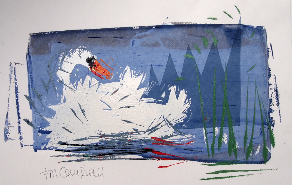 'Swan I' - 33cm x 23cm