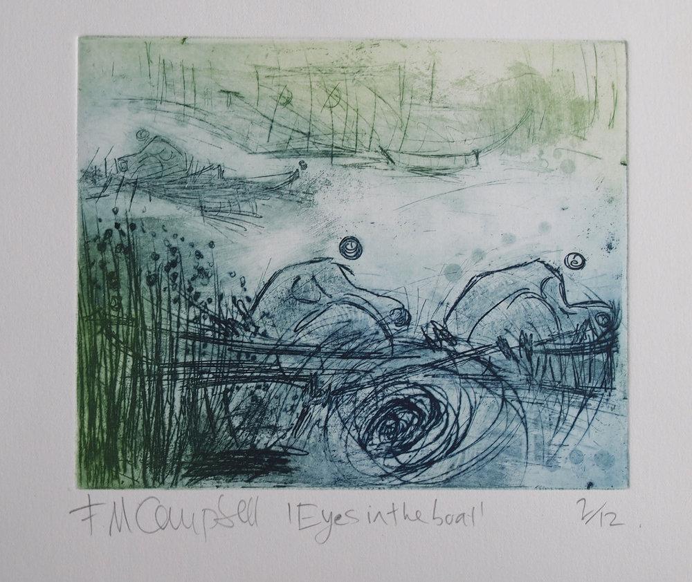 'Eyes in the boat' - 20cm x 15cm