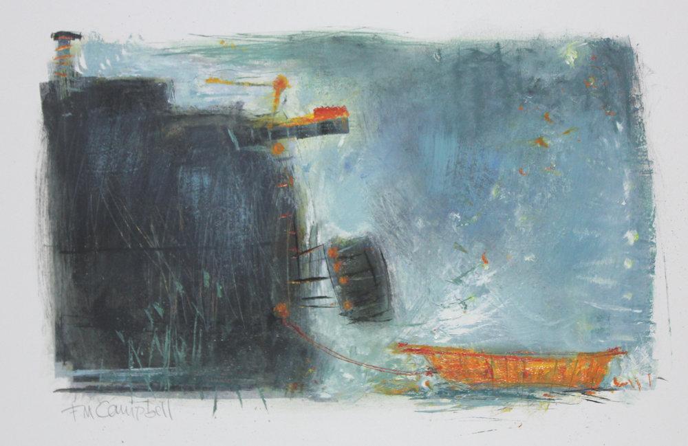 'Riverboats I' 46cm x 29cm