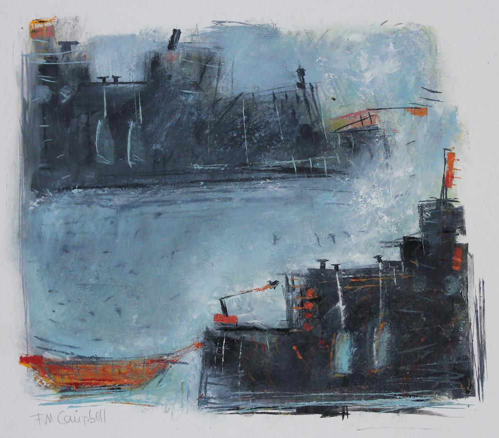 'Riverboats III' 49cm x 40cm