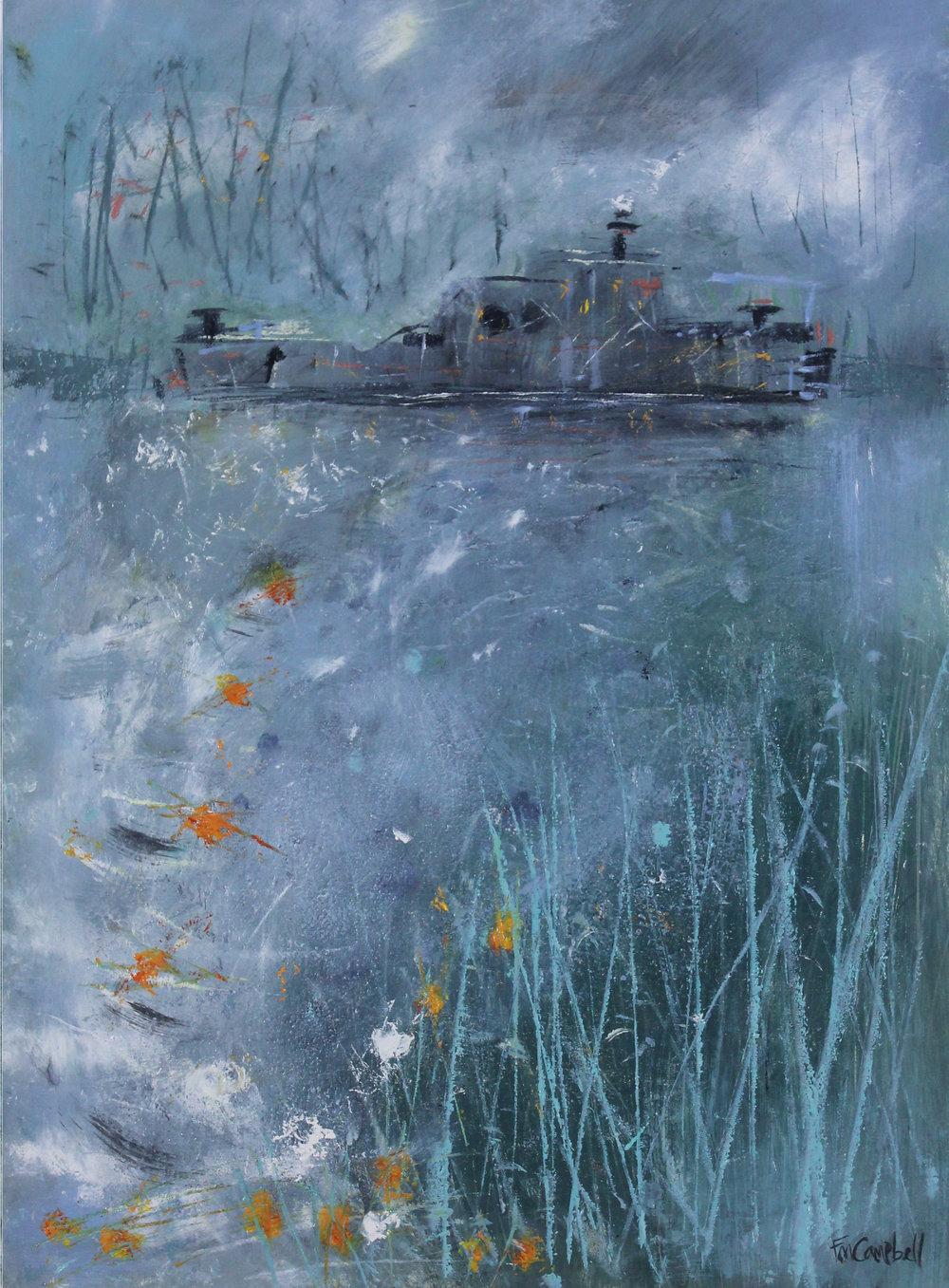 'Houseboat II' 56cm x 76cm