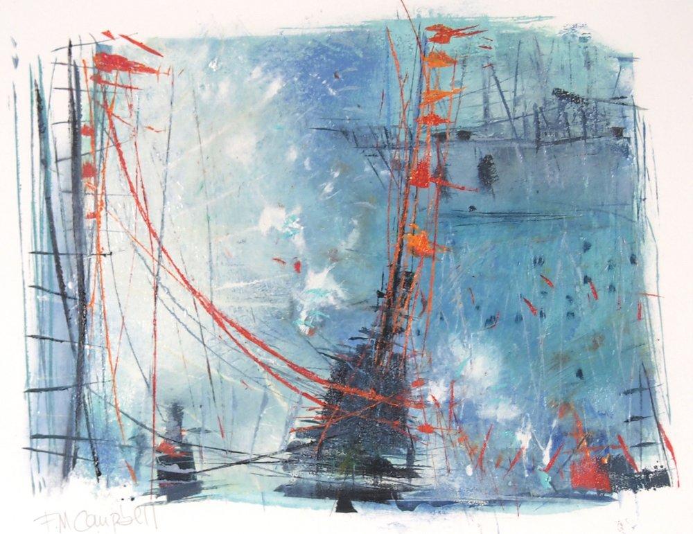 'Sail IV' - 42cm x 33cm