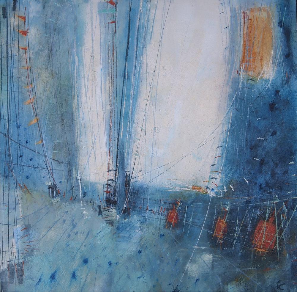 'Setting sails I'  - 61cm x 61cm