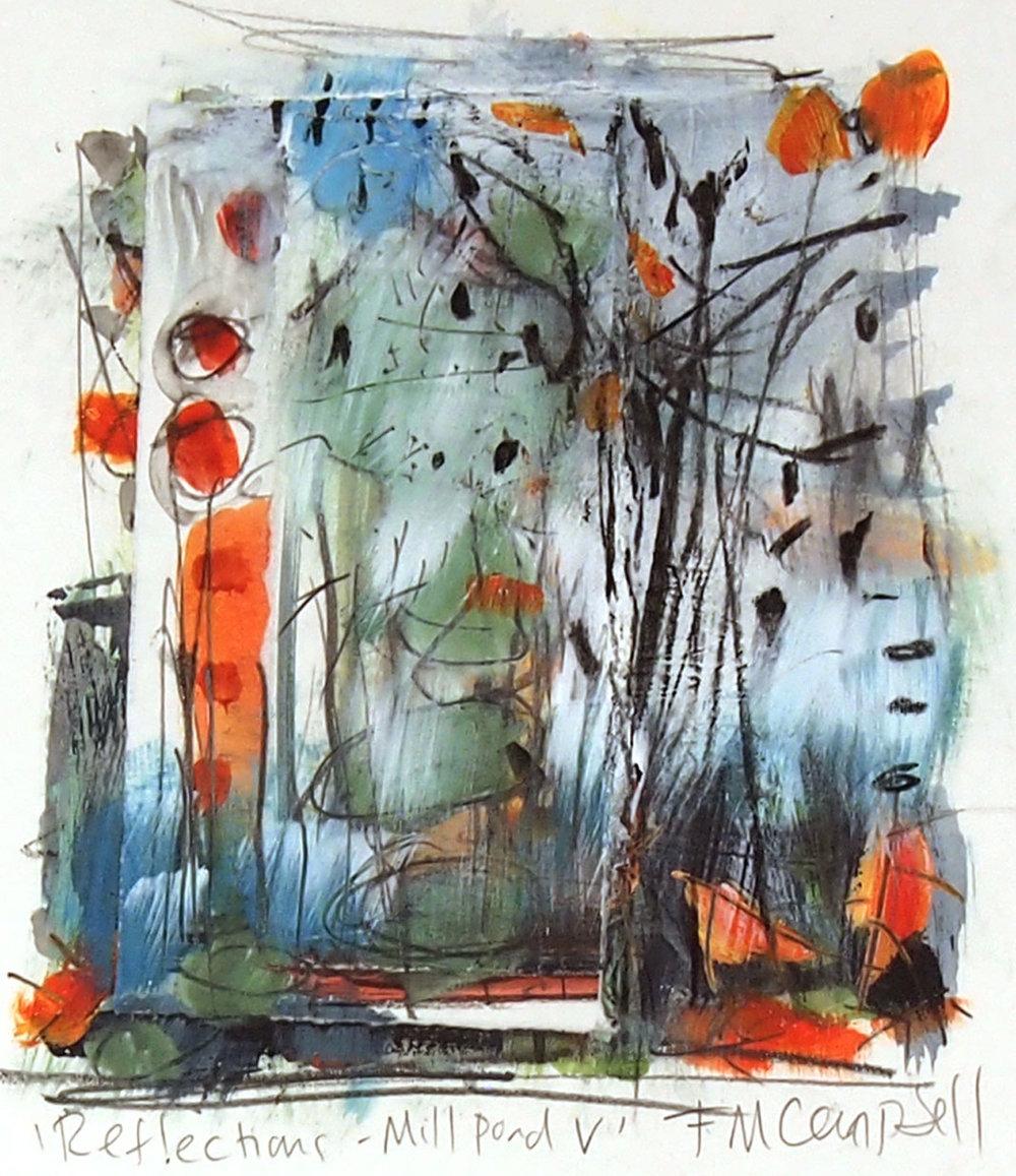 'Reflections - Mill Pond V' (20cm x 20cm).jpg