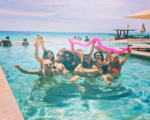 One of our Mexico bach parties staying at the Hyatt Playa del Carmen!