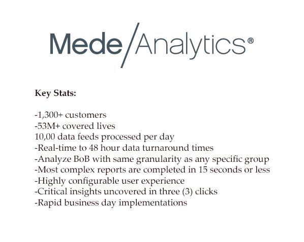 MedeAnalytics stats