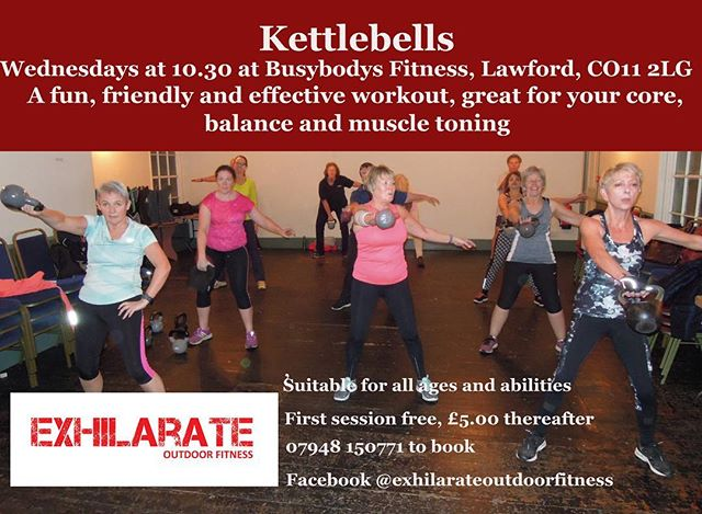 New Kettlebell class at Busybodys Fitness! Starting Wednesday 13th February at 10.30am with Exhilarate Outdoor Fitness. Why not try something new, no need to be a gym member £5 per class - first class free 👍🏻
