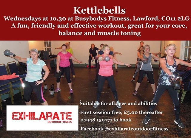Kettlebells Class tomorrow at 10.30am £5 per class, no need to be a member just turn up and  join in 👍🏻