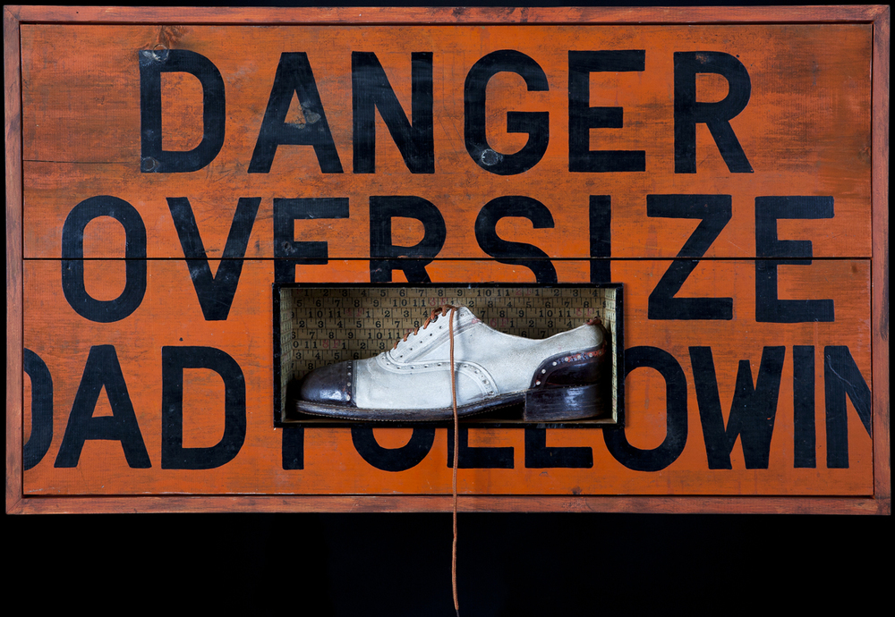 Oversize Shoe, 2012, 24 x 40 x 6 (Sold)