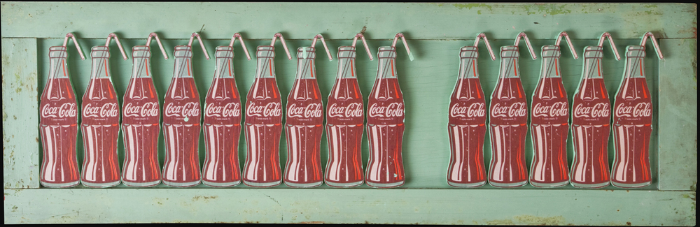 Coca Cola Bottles, 2009, 14 x 44 (Sold)