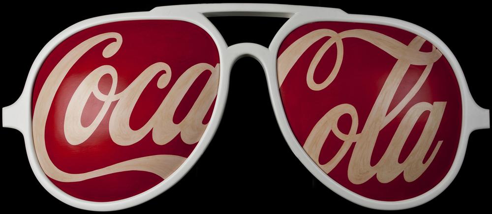 Coca Cola Glasses, 2005, 28 x 72 x 3 (Sold)