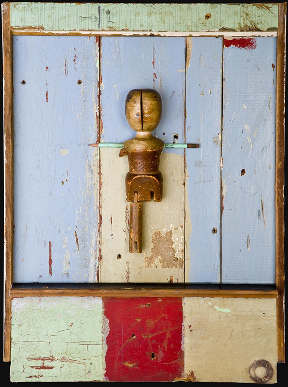 Crackhead Doll, 2009, 24 x 18 x 3 (Sold)