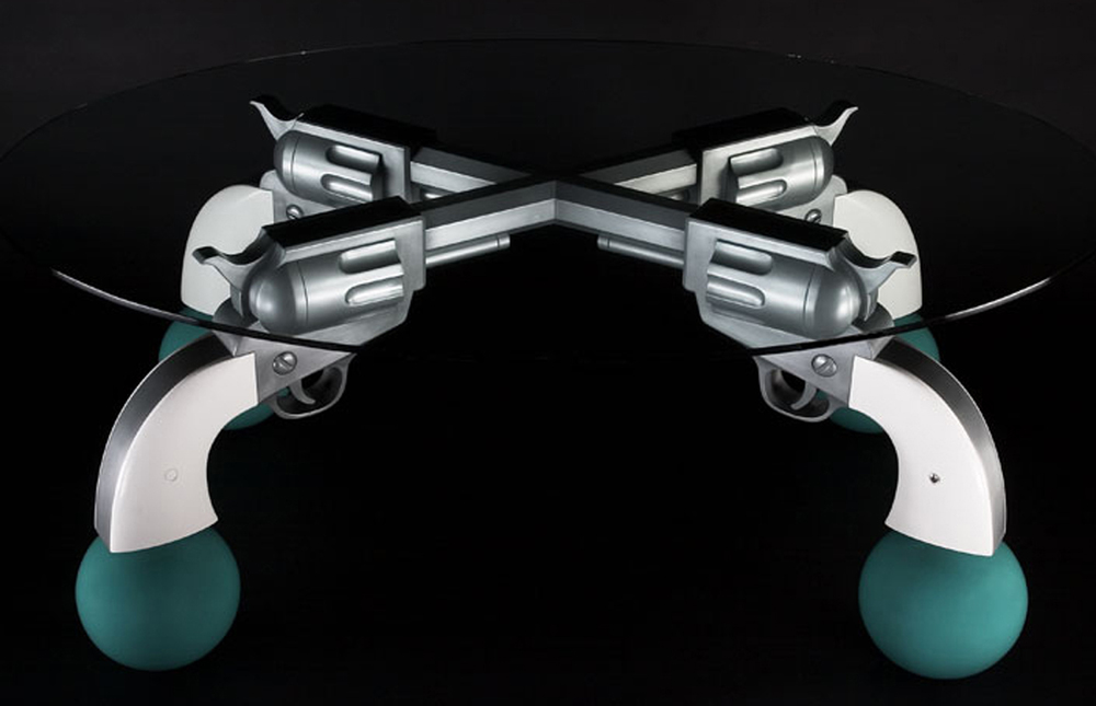 Guns Table, 2003, 28 x 71 x 49 (Sold)