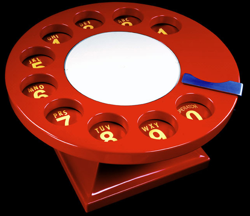 Phone Dial Coffee Table, 2000, 18 x 36 x 36 (Sold)