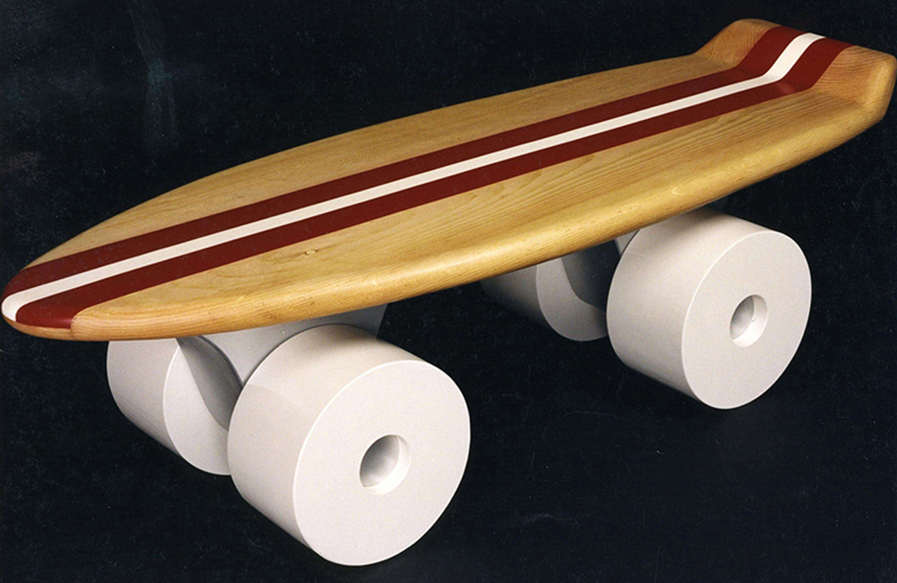 Skateboard Coffee Table, 1999, 18 x 48 x 18 (Sold)