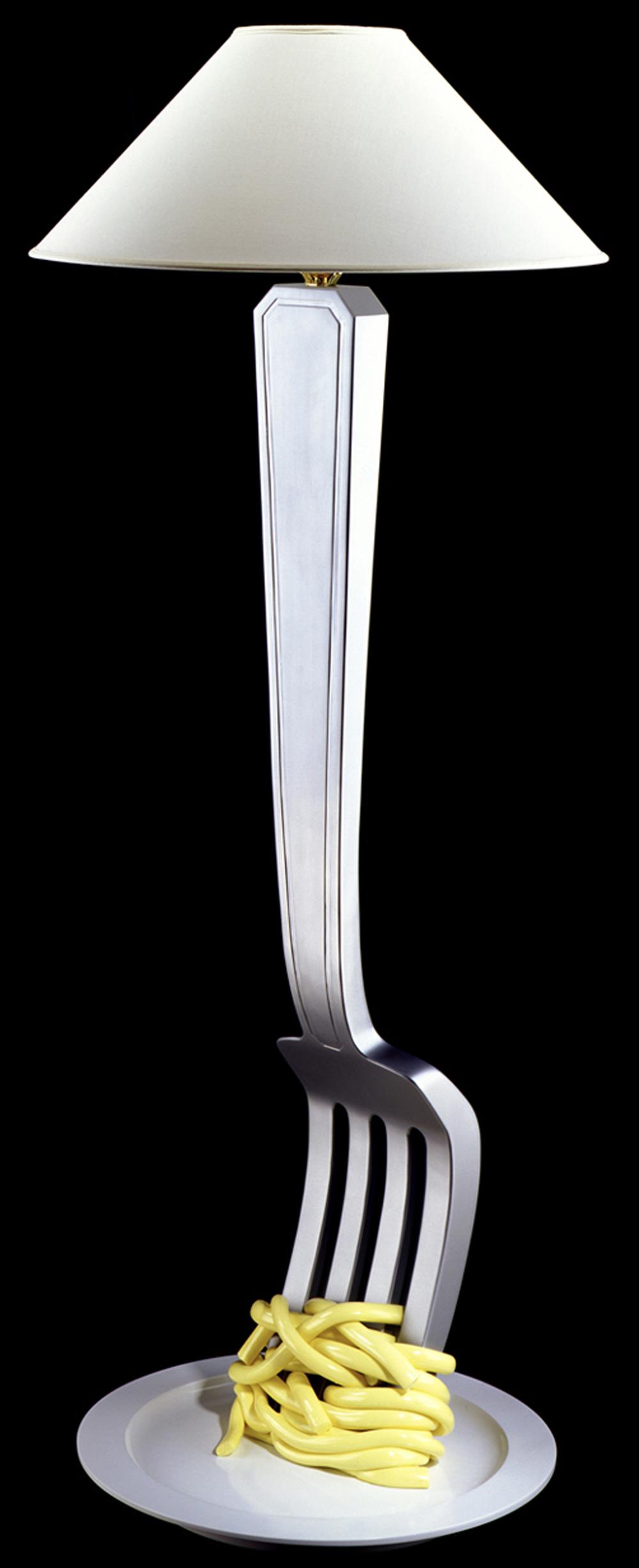 Spaghetti Fork Lamp, 2003, 60 H (Sold)